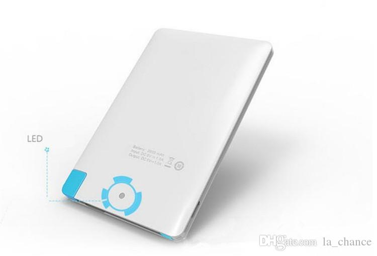 Hot 2500mah Ultra Thin Credit Card Power Bank USB Promotion PowerBank with Built In USB Cable Backup Emergency Super Light Small