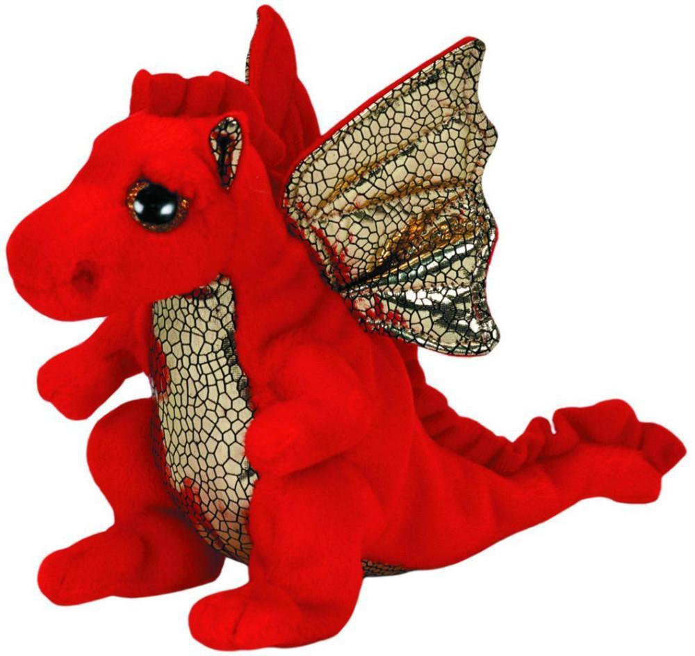 2019 New Orignal Ty Beanie Boos Big Eye Red Legend Dragon Plush Toys