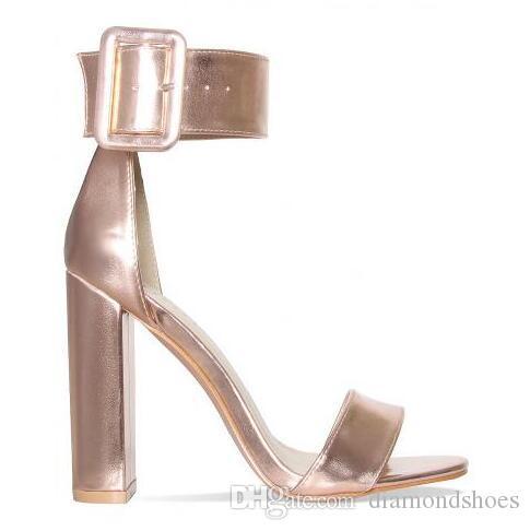 Estate rosa menta verde nudo nero in pelle scamosciata donna sandali open toe fibbia cinturino alla caviglia tacchi alti scarpe da sera vestito da donna