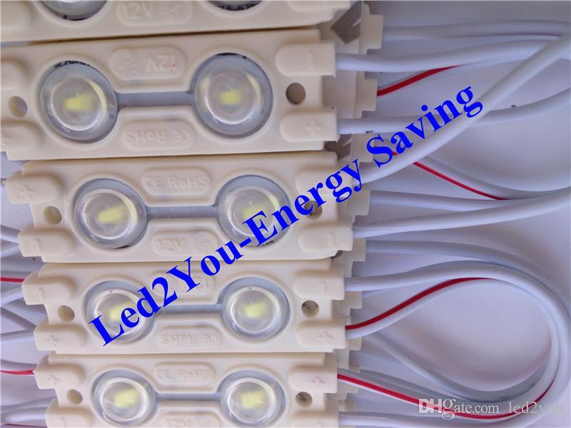 Супер яркий 5730 светодиодные модули света 12V светодиодные витрина свет 2LEDs 160 угол Сид рекламируя освещение КАС СЕ RoHS ул SAA