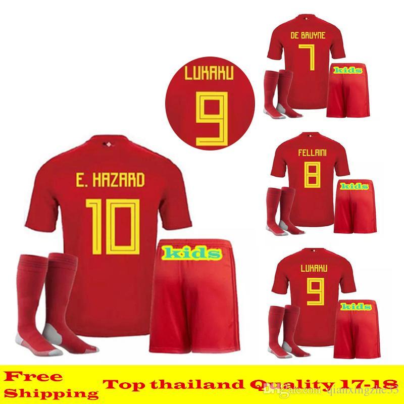 38864e6ba08 ... spain soccer jersey teen jersey belgium 2018 world cup kit thailand  quality lukaku e.hazard