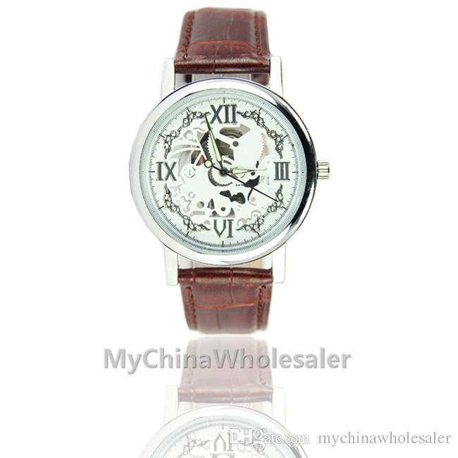 남성 중공 디자인 섬세한 다이얼 남성 시계 고급 자동 시계 남성 시계 레저 시계는 석영 Relogio 야광운 시계