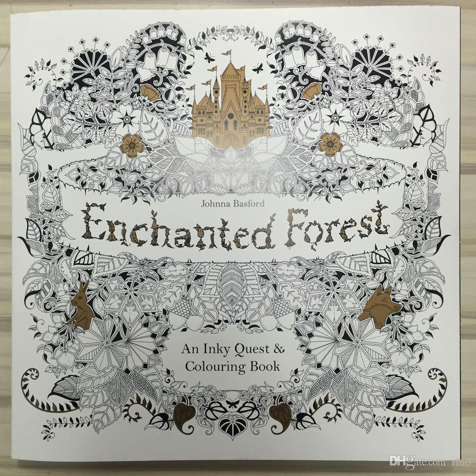 Enchanted Forest English Edition Coloring Books For Children Adult Relieve Stress Creative Therapy Doodling Drawing Wholesale A Book