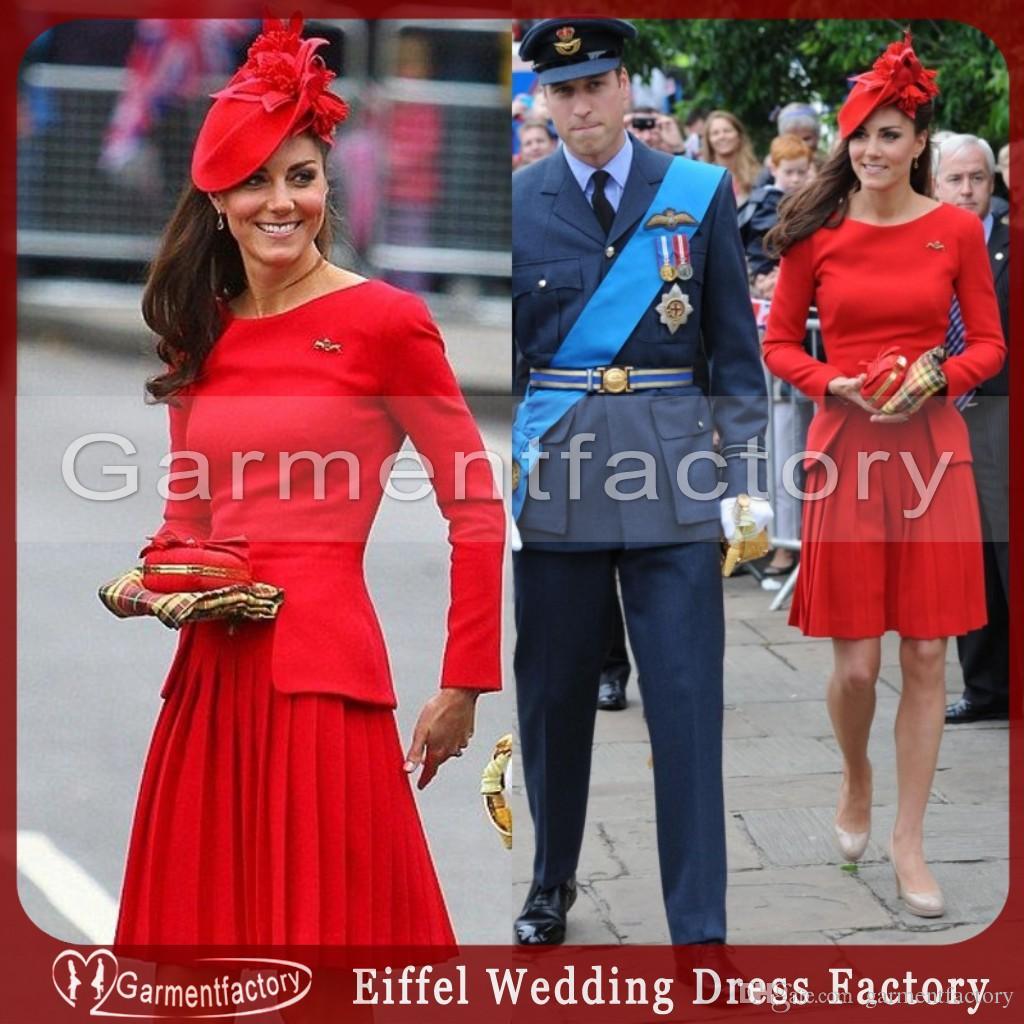 Großhandel 2015 Cocktailkleider Kurz Kate Middleton Juwel Ausschnitt ...