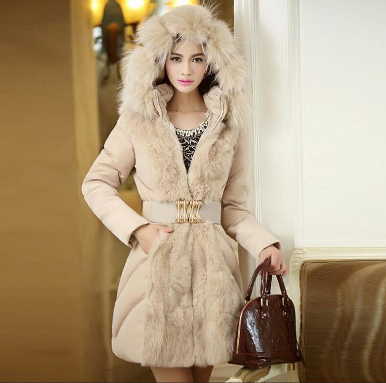 New Winter Coats for Women 2015 Luxury Style Womens Winter Long Down & Parkas Jacket Thick Ladies Elegant Fur Collar Outerwear Coat M-XXL
