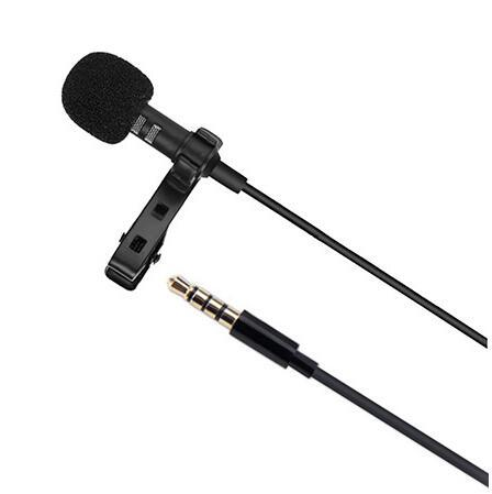 Gw510 Professional Lavalier Wired Condenser Microphone Stereo Mini 3 5mm Jack Mic For Iphone Ipad Android Singing Recorder
