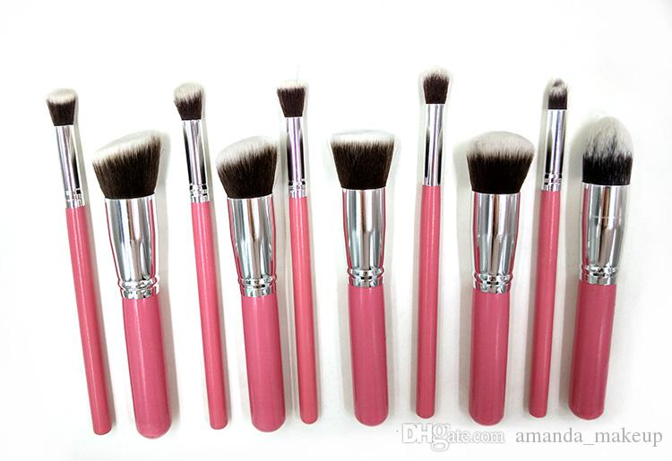 Best Quality Makeup Brush Set For Women Kabuki Brush Pro Cosmetic Brush  Pink Color Make Up Brush Kits Foundation Eyeliner Brushes Makeup Brands  Makeup Case ... 9fa43984d