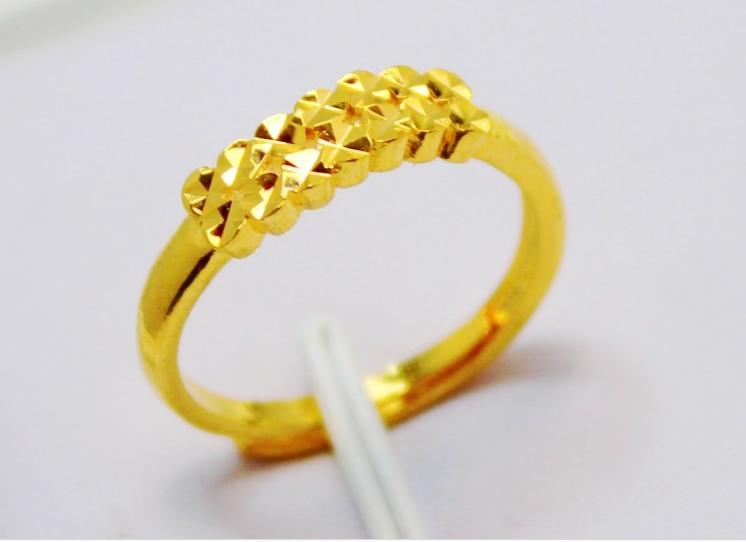 b8e5525583060 Wholesale - Bridal wedding jewelry gold finger ring size adjustable ,  Weight about 3 grams