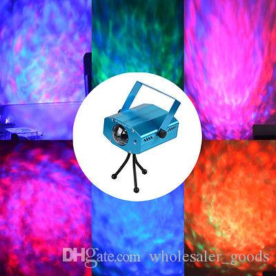 Led Lights Portable multi LED Bulb Remote LED Stage Light Water Wave Effect Projector Lighting DJ Club Disco Party Home Led Projecter