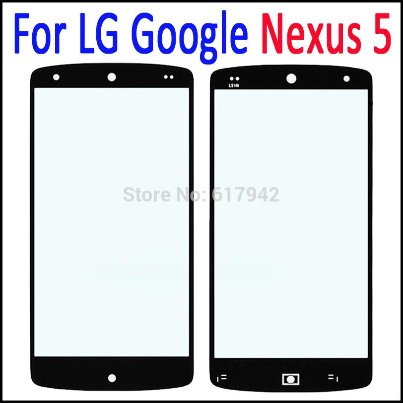 Outer Screen Digitizer Cover Glass for LG Google Nexus5 Black Front Glass Lens Replacement for LG Nexus 5 D820 D821