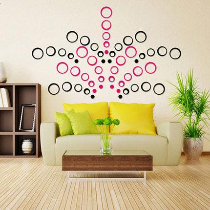 New Creative Stereo 3D Wall Stickers Mural Indoor 3D Wall Art ...