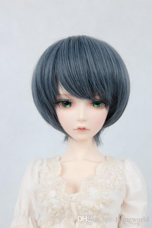 1/3 1/4 1/6 Bjd doll grey white short hair wig high temperature wire