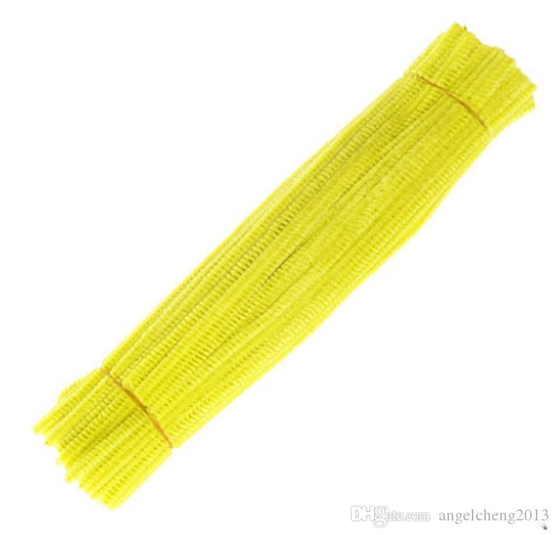 500unit Amarelo Chenille Artesanato Hastes Artes Criativas Chenille Stem Pipe Cleaners 12