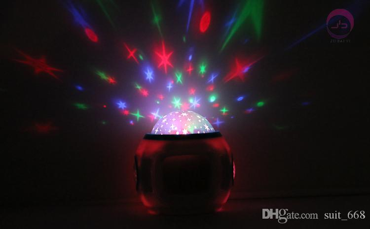 Students bedside alarm creative mute luminous bedroom children's music stars projection electronic clock colorful alarm