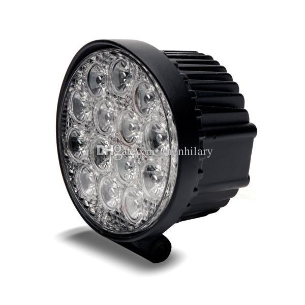 14 * LED 42W veicolo auto ha condotto la lampadina del lavoro LED della nebbia LED impermeabile IP67 6000K lega di alluminio SUV ATV fuoristrada camion spedizione gratuita