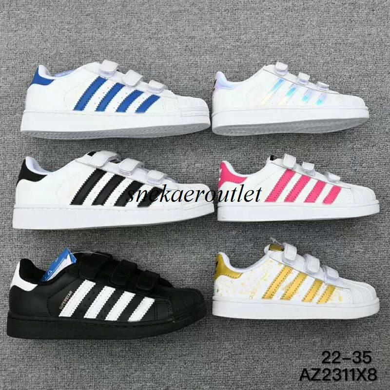 New Arrival Baby Kids Superstars Causal Shoes Boys Girls Fashion Sneakers  Size Euro 22 35 Narrow Shoes For Kids Childrens Shoe From Snekaeroutlet 00f7f9e39fa9