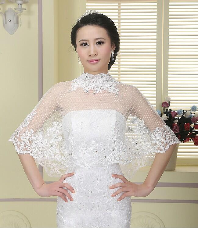 2015 New Fashion Wedding Dresses Bridal Shawl Coat Lace