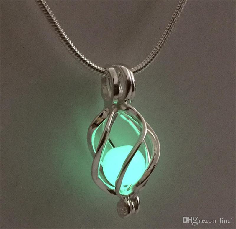 18KGP medaglione gabbia ritorta, perla in argento sterling / cristallo / ciondolo gemma gabbia perlina montaggio gioielli charms moda fai da te P33
