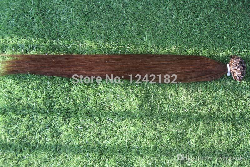 Cheap Natural keratin Capsule prebonded U/Nail Tip Virgin Hair Extension 10-30 inch Remy Fusion Human Hair Extension Keratine 1g