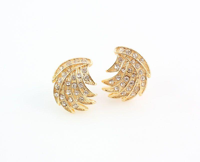Perles africaines Ensemble de bijoux Pour les femmes Feuilles Forme Cristal Pendentif Déclaration Robe Collier Boucles D'oreilles Bracelet Accessoires De Mariage