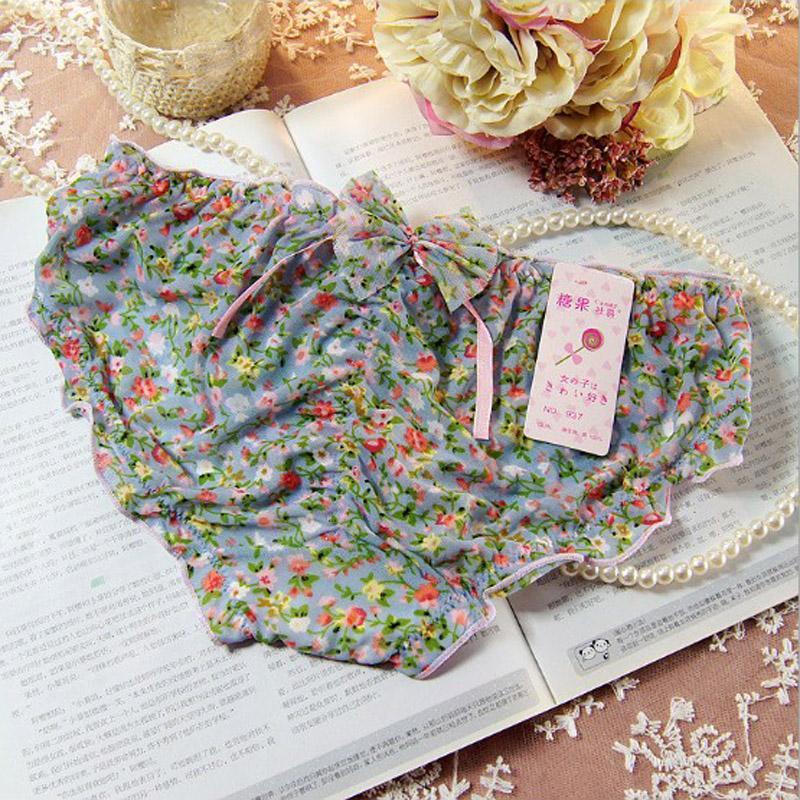 Lovely Lace Sexy Sheer Women Underwear Panties Female Calcinha Underwear Women Heart Pink Floral Women's Butt Lifter Briefs