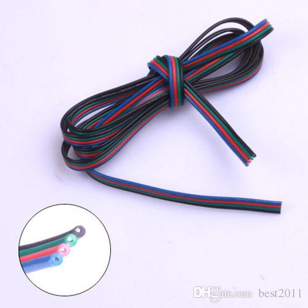 100 М 4 pin LED RGB кабель провод удлинитель LED удлинитель для 5050/3528 LED RGB свет газа