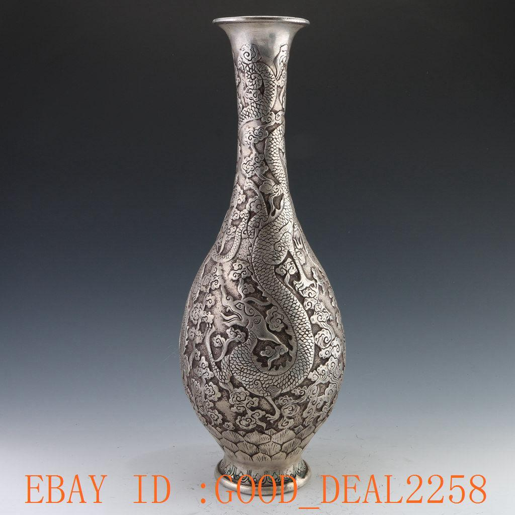 2018 chinese silver copper handcarved dragon vase w ming dynasty chinese silver copper handcarved dragon vase w ming dynasty xuande mark reviewsmspy