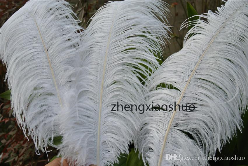 Gratis verzending 30 stks 24-26 inch pure witte struisvogel veer pluimen voor bruiloft middelpunt decoratie veer centerpiece home decor