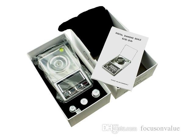 Digital-Diamant Skala 0,001g-20g 0,001g-30g 0,001g-50g LCD-Display digitale Taschenwaage Gewicht Balance für Schmuck Gold Silber /