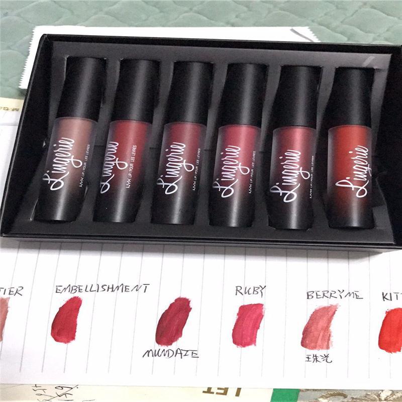 NYX underwear lip color matte lip-gloss oil lipstick lasting brand waterproof lip color makeup plus gifts