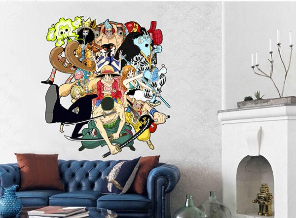 cool japan anime one piece after 2 years wall sticker home