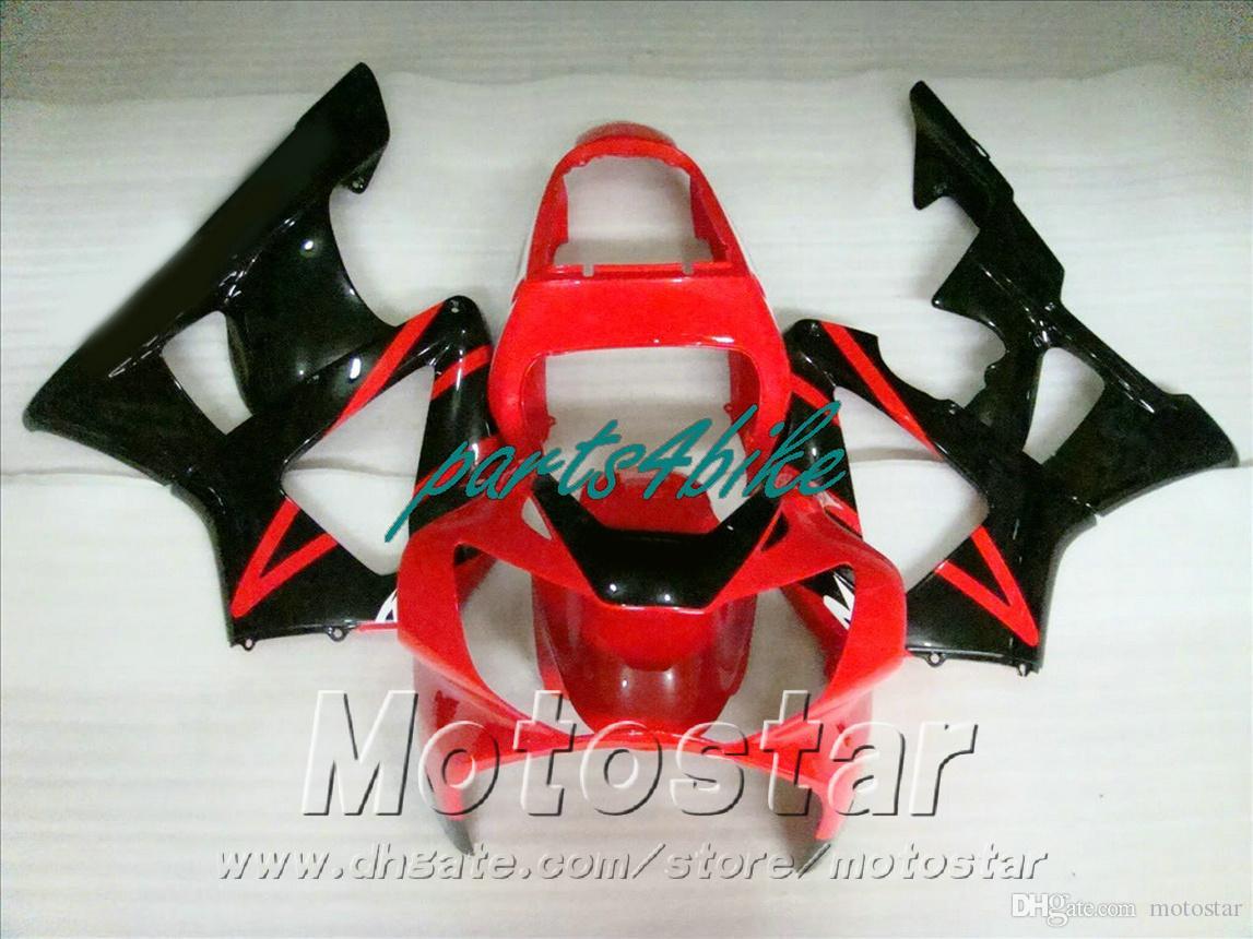 New!Fit for HONDA CBR900RR fairing kit CBR929 2000 2001 bodykits CBR 900 RR 00 01 black red fairings HB81