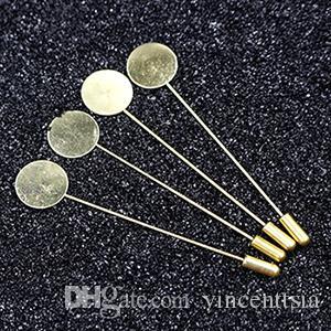 Revers Pin Brosche flache Blank Einstellung Basis Frauen Männer Schalcape Schal Erkenntnisse machen Connector Charme lange Stifte Nadel Composant de Bijoux