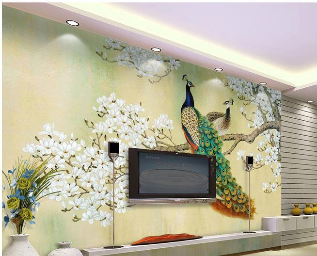 Custom Photo Wallpaper Peacock Large 3d Wallpaper Background Wallpaper The Living  Room Tv Backdrop 3d Mural Wallpaper 20155202 Free 3d Wallpaper Free 3d ... Part 19