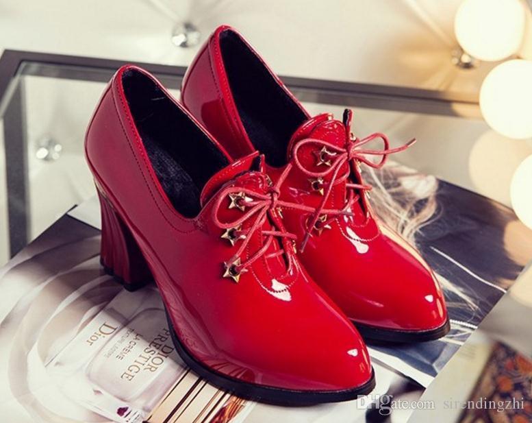 Nueva primavera y otoño 32 33 zapatos de una sola pieza con tacones altos zapatos de trabajo de moda boca profunda descubierta 40-48 zapatos de gran tamaño