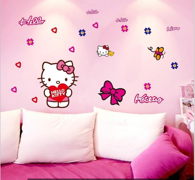 Cute Cat Pink Car Sticker Wall Mural Home Decor Kids Room Decals  Refrigerator Washing Machine Wallpaper Wall Decals Decor Wall Decals Design  From Laiwenjie2 ... Part 73