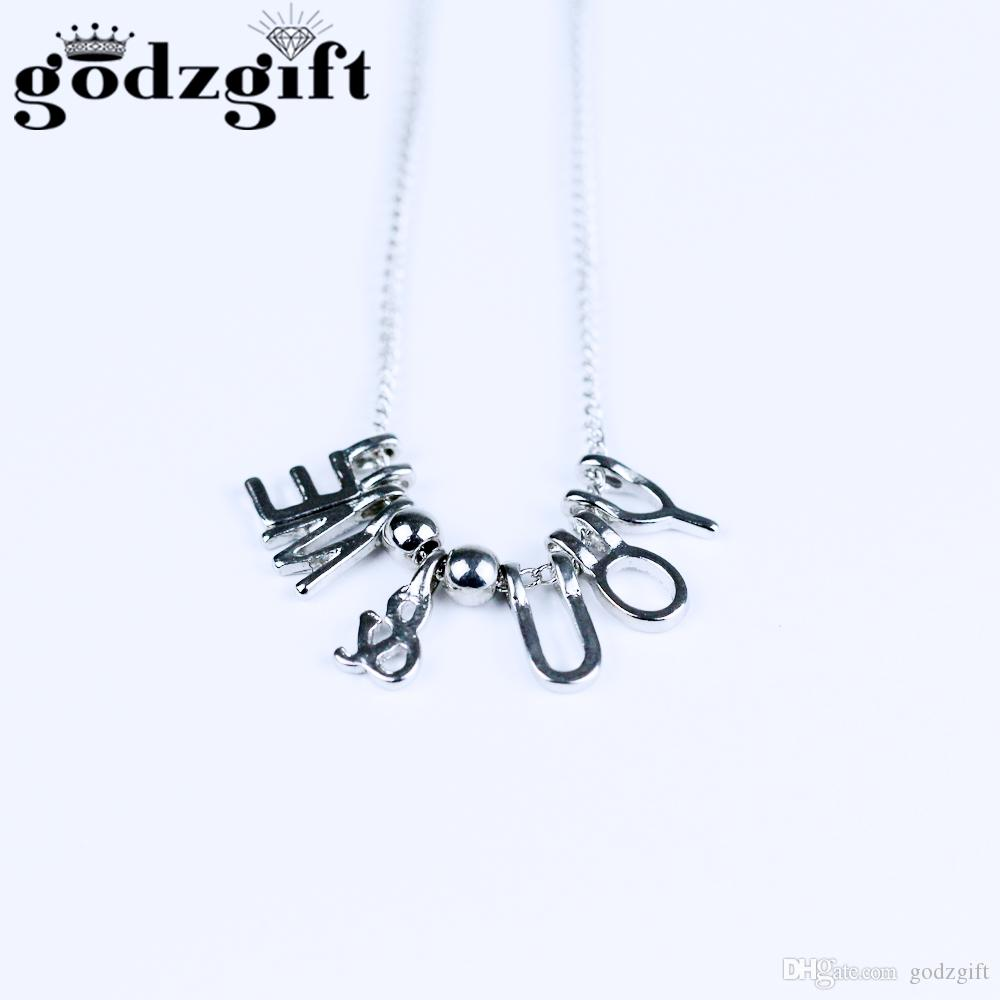 Wholesale godzgift letter necklace name necklaces pendants custom wholesale godzgift letter necklace name necklaces pendants custom silver jewelry personalized initial necklace handmade birthday gift jn0080 diamond heart aloadofball