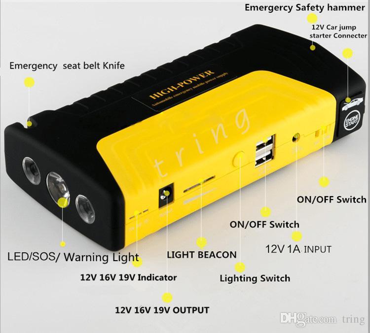 12 V Carro Saltar de Arranque 50800 Mah Auto EPS Ir Para Iniciantes de Emergência Arranque Car Power Charger Móvel CNP