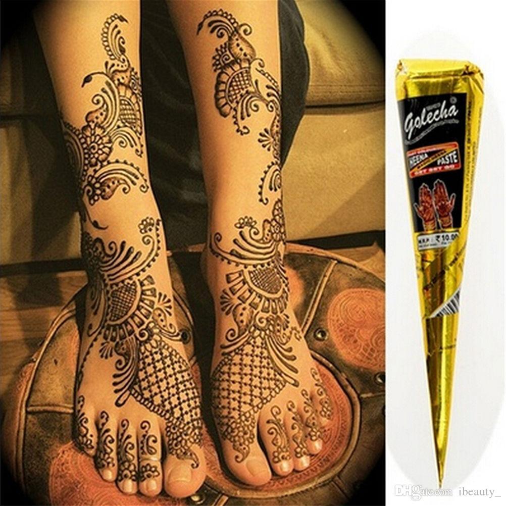 pâte de tatouage au henné noir - tatouage temporaire indien faux art naturel à base de plantes art corporel encre de Mehandi