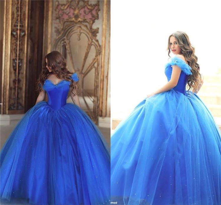 Wholesale 2016 New Bride Evening Dress Vintage Shoulder: 2016 Cinderella New Evening Formal Dresses Vintage Off The