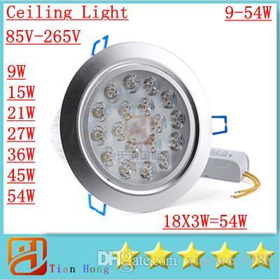 Lámpara de techo Led de alta potencia regulable 9W 12W 15W 21W 27W 36W 45W Bombilla led 110-240V Foco de iluminación LED con luz de fondo
