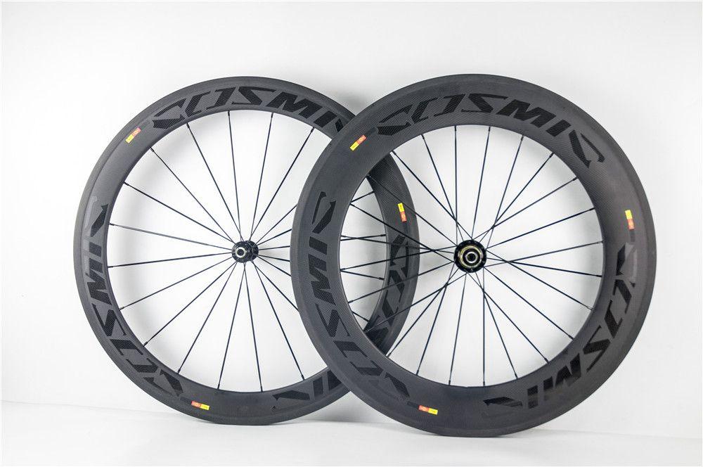 Mavic Cosmic 60mm Front 88mm Rear Clincher Carbon Bike Wheels 700c