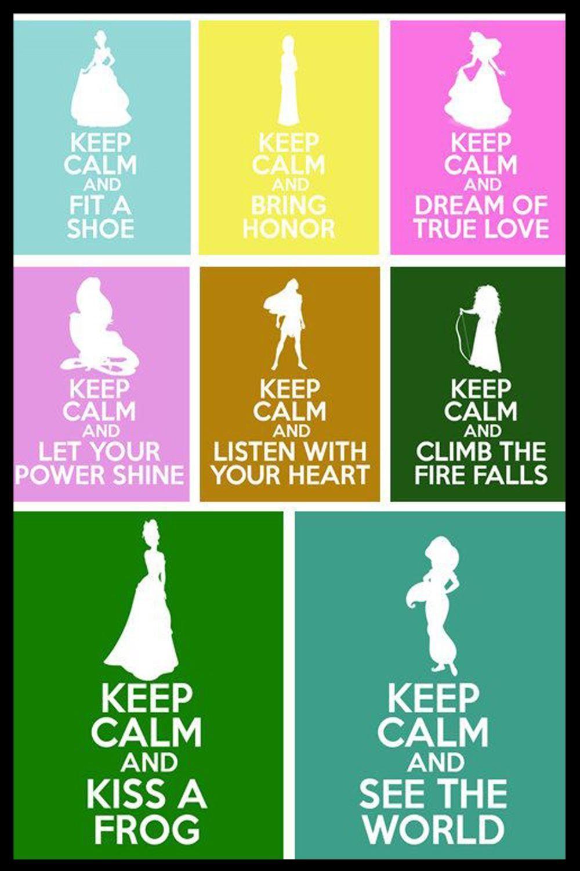 Princesses Keep Calm Luxary Home Decoration Fashion Custom Poster ...