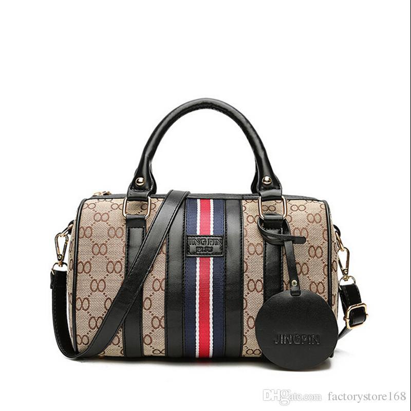 157c131b02 2019 2017 Hot Sell Pillow Shape Designer Handbags Geometric Pattern Boston Bags  PU Lady Crossbody Handbags Black From Factorystore168