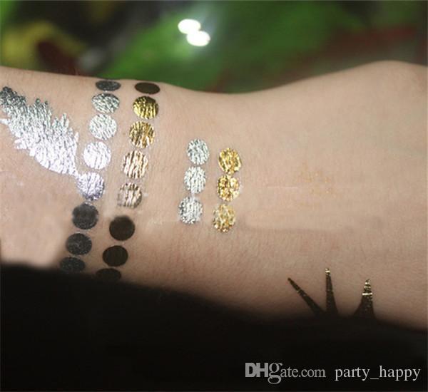 Europe et les États-Unis décoration de cheveux tatouage chaud estampage tatouages cheveux dorés tatouages bâton de cheveux personnalisé cheveux tatouage pâte tatouage