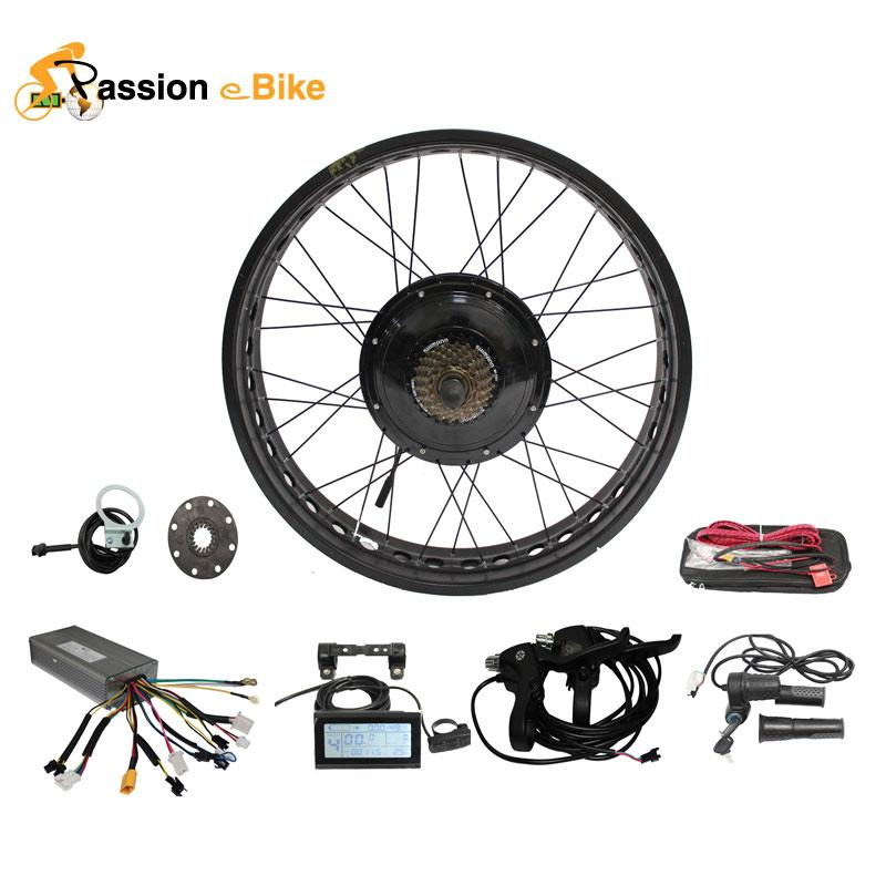 2018 passion ebike 48v 1000w electric bicycle fat bike hub for Fat bike front hub motor