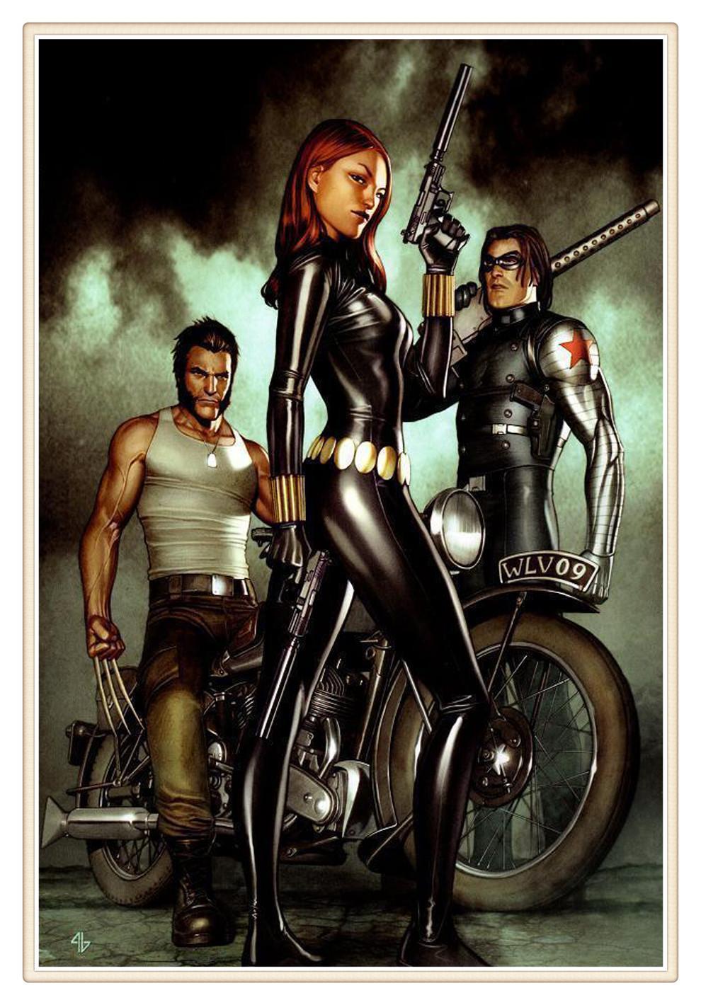 2018 Black Widow Marvel Home Decor Hd Printed Modern Art