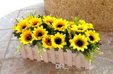 Artificial flowers sunflowers non-polluting sun flower Artificial Flower rose flower Simulation Wedding or Home decorations party supply