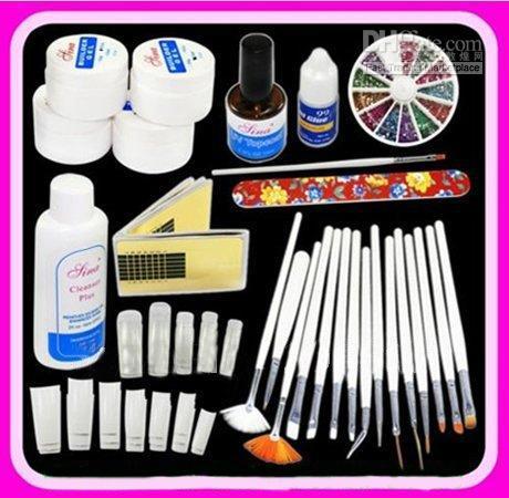 Diy Supplies Nail Art Professional Uv Gel French Nail Kit Acrylic