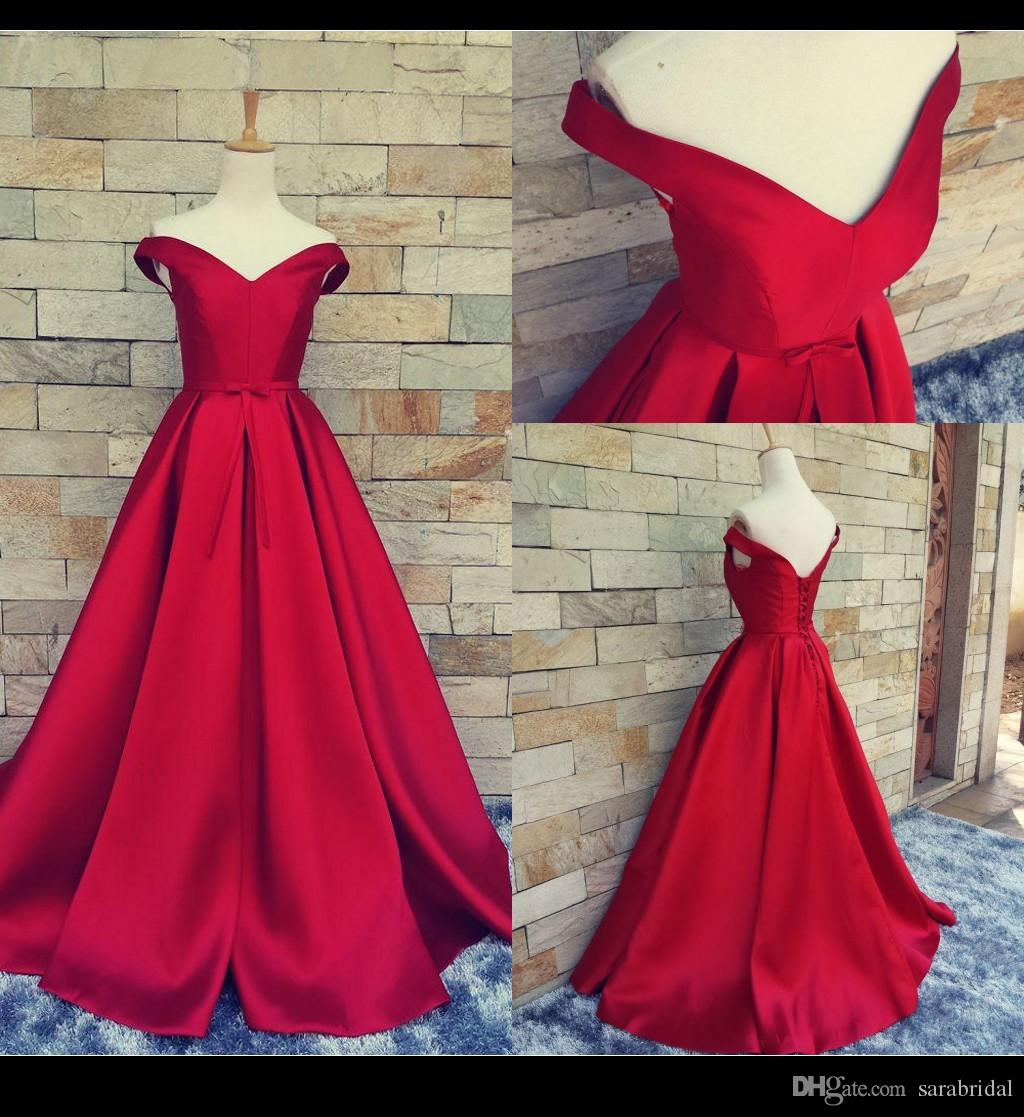 Open Red Long Prom Dresses
